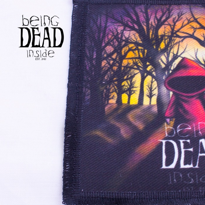 Red Riding Hood Patch // Printed Sew On Patch // Dead Inside Patch // Logo Patches // Original Design // Biker Patch